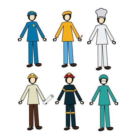 jobs design over white background vector illustration | Stock Vector - 20962262