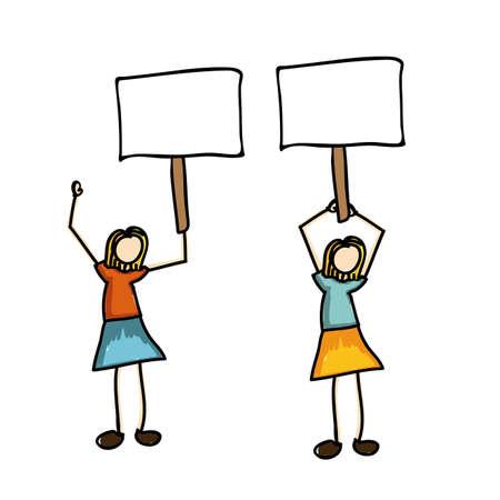 protest icon over white background vector illustration  Illustration