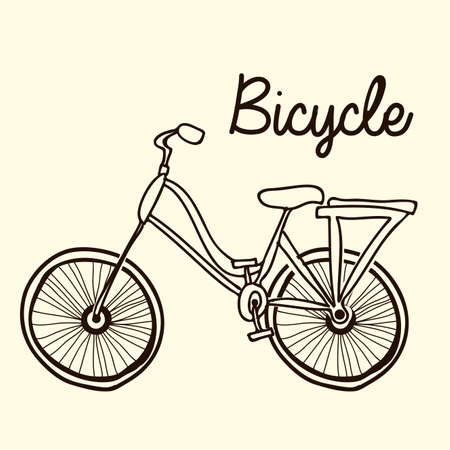 recreational pursuit: bicycle design over white background illustration