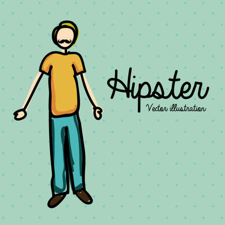 hipster design over dotted background illustration  Stock Vector - 20983309
