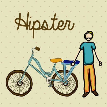 hipster design over dotted background illustration  Vector