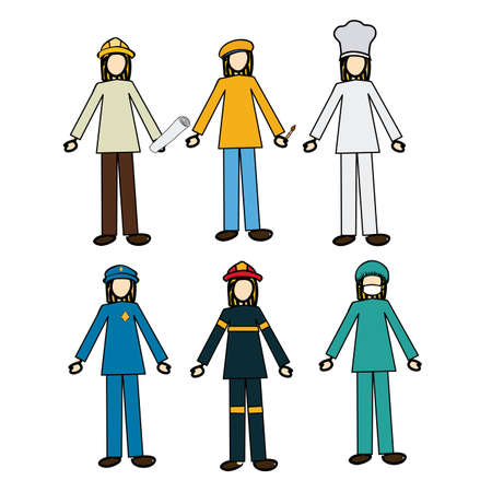 renders: jobs design over white background illustration  Illustration