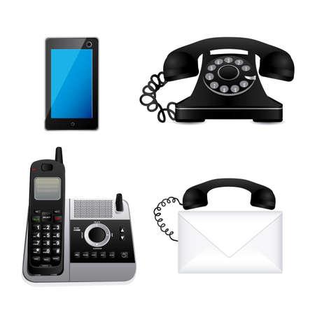 phones icons over white background vector illustration Illustration