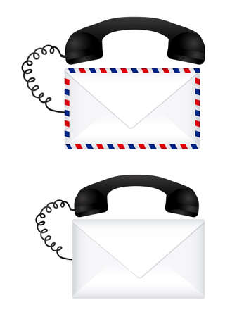 mail call over white background vector illustration Stock Vector - 20983535