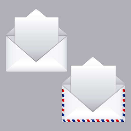 mail design over gray background vector illustration Stock Vector - 20983540