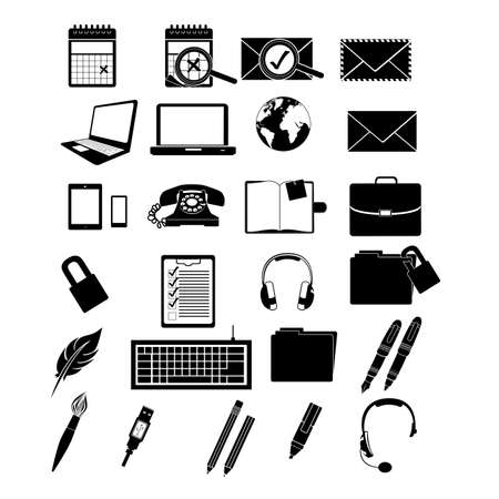 application icons over white background illustration Stock Vector - 20983724