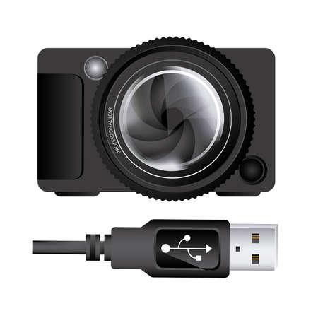 Gniazdo USB na białym tle ilustracji wektorowych