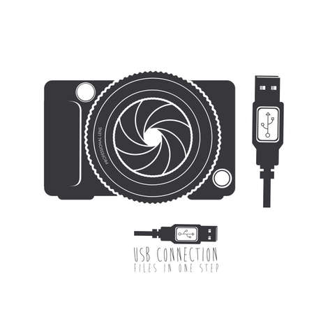 Połączenie USB na białym tle ilustracji wektorowych