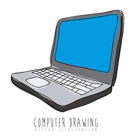 computer design over white background vector illustration Stock Vector - 21295517