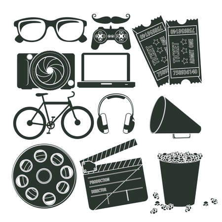 entertainment icons over white background vector illustration  Vector