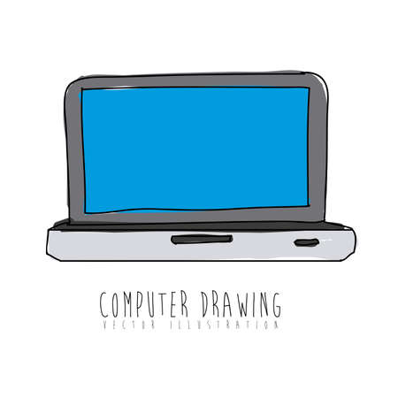 computer design over white background vector illustration  Stock Vector - 21295679