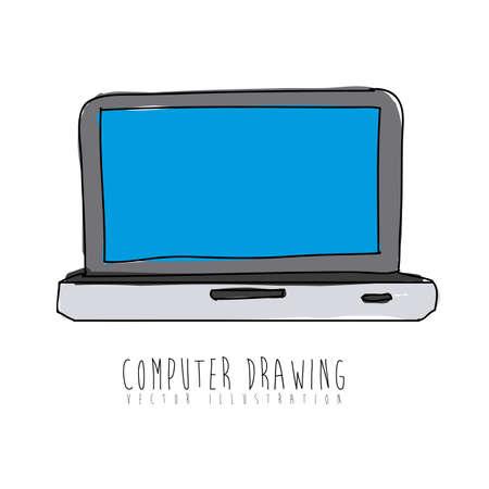 computer design over white background vector illustration Stock Vector - 21295679