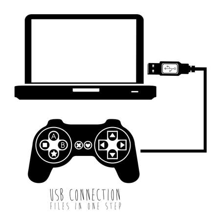 usb connection over white background vector illustration  Stock Vector - 21295697