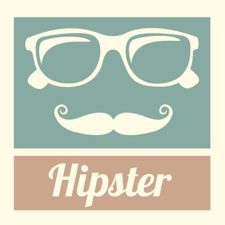 hipster design over vintage background vector  illustration Stock Vector - 21295690