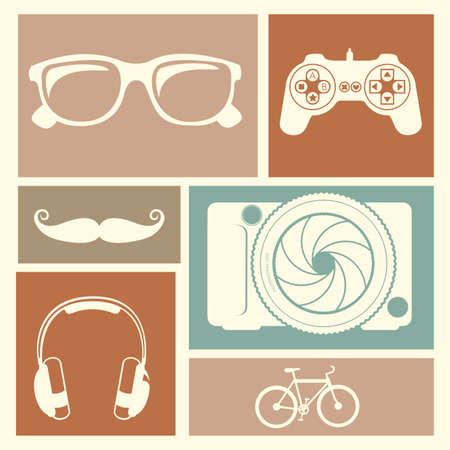 entertainment icons over colorful background vector illustration  Vector