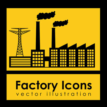 factory icons over yellow background vector illustration Stock Vector - 21295771