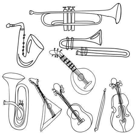 musical instruments over white background vector illustration  Stock Vector - 21295774