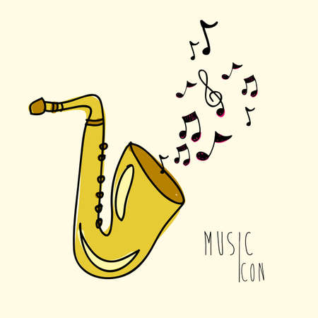 music icon over pink background vector illustration