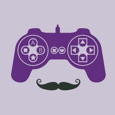 mister: joystick design over purple background vector illustration Illustration