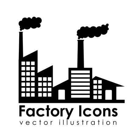 industrialization: factory icons over white background vector illustration