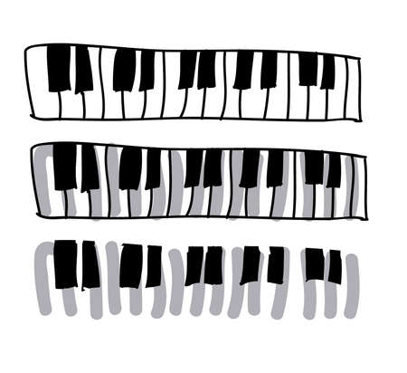 music icon over white background vector illustration  Vector