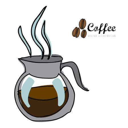 coffee icon over white background vector  illustration Stock Vector - 21295834
