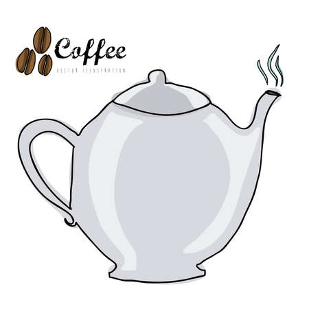 coffee icon over white background vector  illustration Stock Vector - 21295821