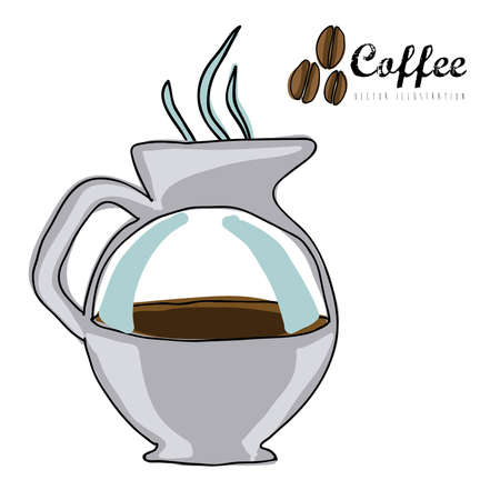 coffee icon over white background vector  illustration Stock Vector - 21295823