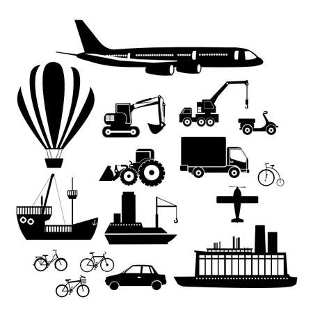 transport icons over white background vector illustration  Vector