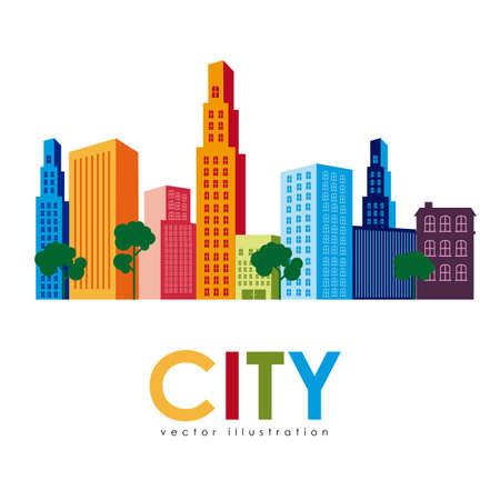 midtown: city design over white background vector illustration