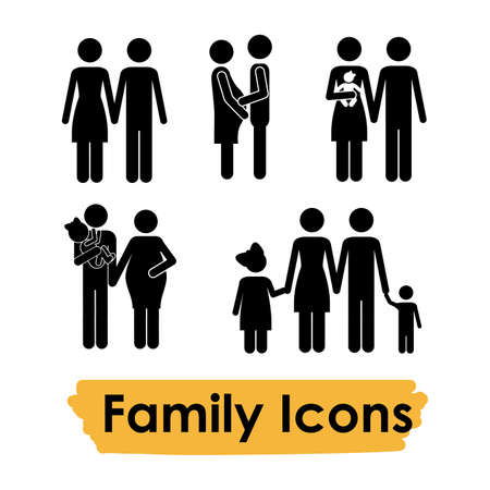 family icons over white background vector illustration Stock Vector - 21517422