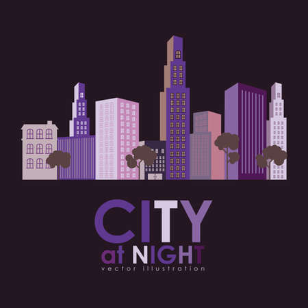 city design over black background vector illustration Vector