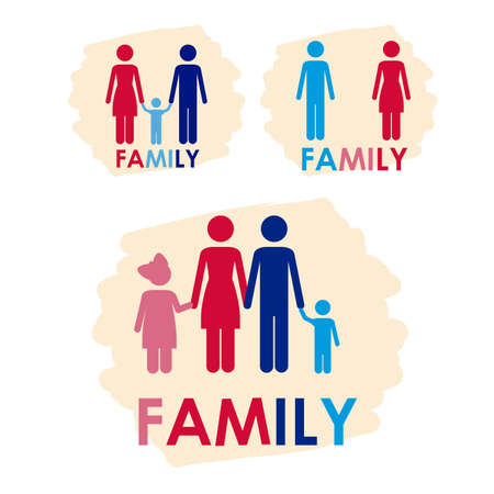family icons over white background vector illustration  Illustration