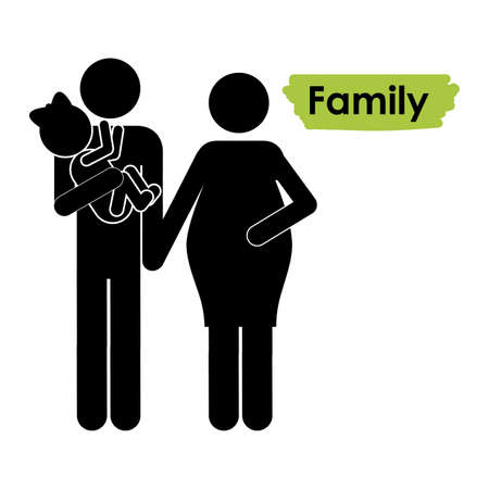 family icons over white background vector illustration   Stock Vector - 21517506