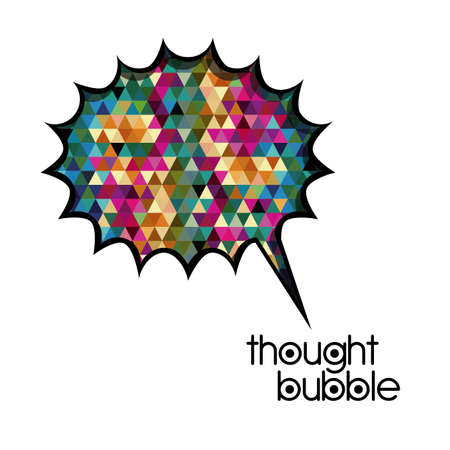 thought bubble over white background vector illustration  Stock Vector - 21517488
