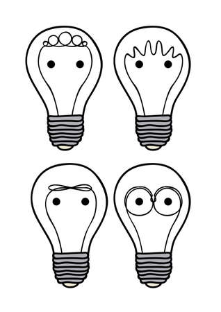 idealistic: bulbs icons over white backgroundvector illustration