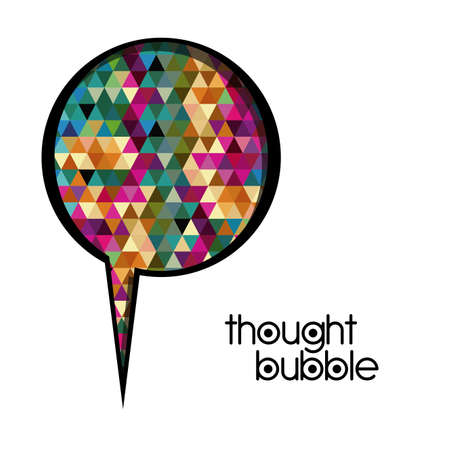 thought bubble over white background vector illustration Stock Vector - 21517495