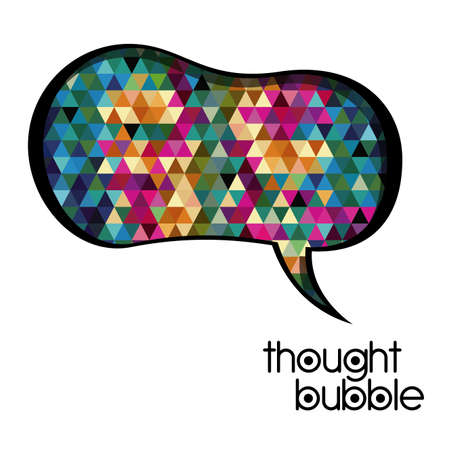 thought bubble over white background vector illustration Stock Vector - 21517534