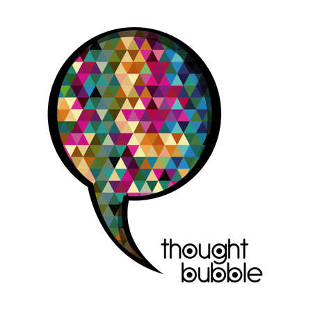 thought bubble over white background vector illustration Stock Vector - 21517535