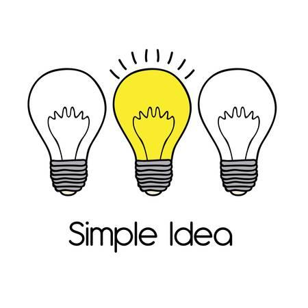 idealistic: simple idea over white background vector illustration