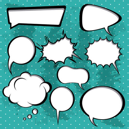 chatter: comic icons over dotted background vector illustration