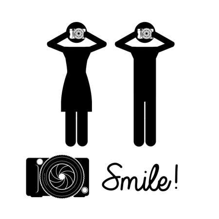 smyle: smyle design over white background vector illustration