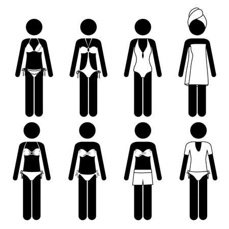 swimsuits design over white background vector illustration Stock Vector - 21517581