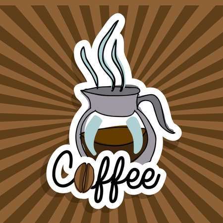 coffee icon over grunge background vector  illustration Stock Vector - 21517585