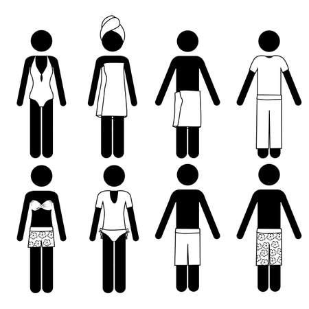 swimsuits design over white background vector illustration Stock Vector - 21517766