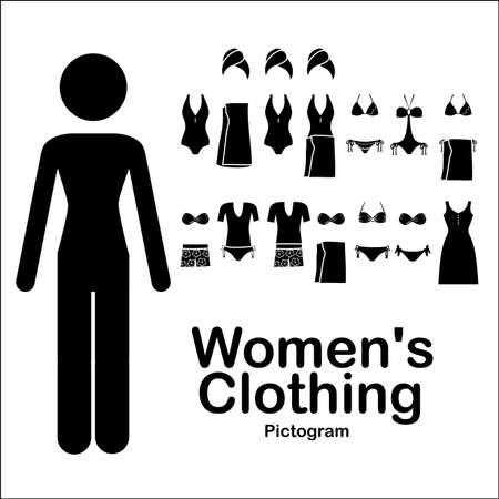 womens clothing: womens clothing over white background vector illustration Illustration