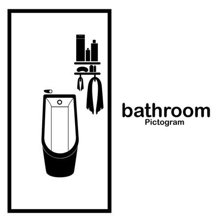 bathroom design over white background vector illustration Vector
