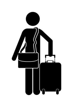 reiziger: reiziger ontwerp op een witte achtergrond vector illustratie