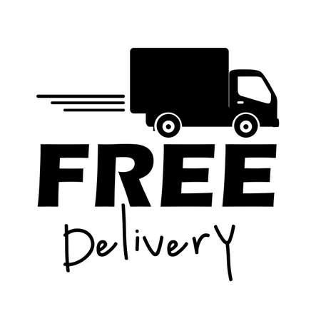 Etichetta la consegna gratuita su sfondo bianco illustrazione vettoriale Archivio Fotografico - 21517876
