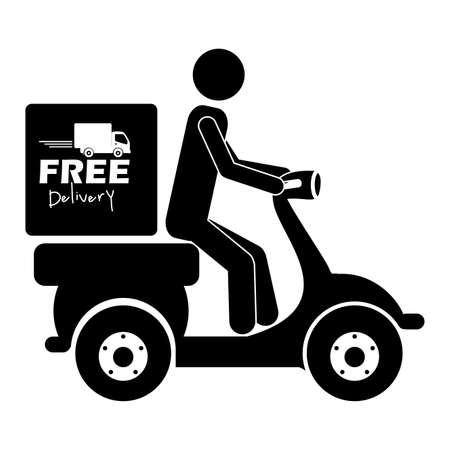 free delivery: free delivery label over white background vector illustration  Illustration